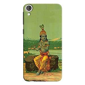 ColourCrust HTC Desire 820 Mobile Phone Back Cover With Vintage Krishna Poster - Durable Matte Finish Hard Plastic Slim Case