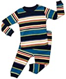 "Leveret ""Multi Striped"" Boy 2 Piece Pajama 100% Cotton (6M-5 Years) *June 2014*"