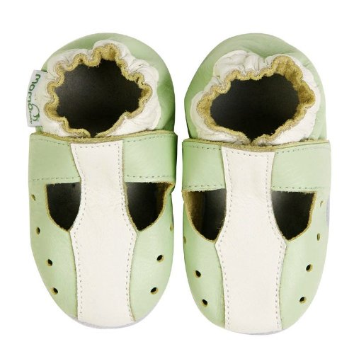 Momo Baby Soft Sole Baby Sandal Shoes - T-Strap Green