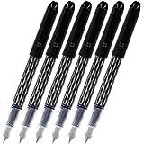 6 PACK: Pilot Varsity Disposable Fountain Pens, Black Ink, Single Pen (90010)