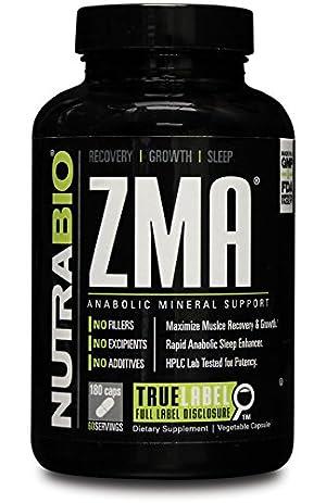 NutraBio ZMA - 180 Vegetable Caps