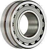 SKF Explorer Spherical Roller Bearing, Straight Bore, Pressed Steel Cage, C3 Clearance, Metric