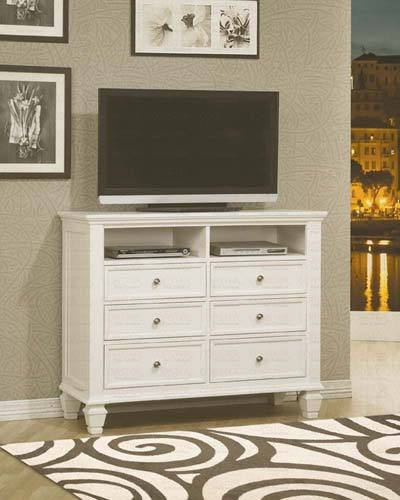Sandy Beach Transitional Media Chest by Coaster