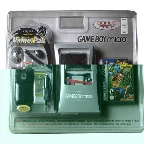Nintendo Game Boy Micro Bundle - Crash Bandicoot