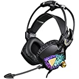 SADES Newest Model SA913 Lightweight PC Gaming Headset USB Stereo Surround Sound Over Ear Headphones With Microphone... - B0176NK6D4