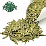 Brightea Supreme Green Tea Loose Leaf Mingqian West Lake Dragon Well Xihu Long Jing 3.5 Oz Best Gift for Tea Lovers