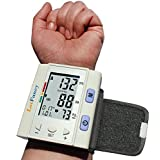 LotFancy Automatic Digital Wrist Blood Pressure Monitor with Case, Irregular Heart Rate Detector, 30x4 Memories for 4 Users, WHO Indicator, FDA Approved, Large LCD