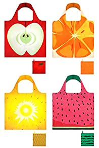 Loqi Frutti 4-pack Reusable Shopping Bags
