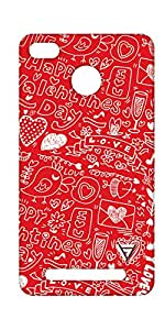 Vogueshell Valentines Day Pattern Printed Symmetry PRO Series Hard Back Case for xiaomi Redmi 3s