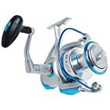 Dr.Fish Saltwater Spinning Reel Super Battle 11000 Surf Fishing Offshore Jigging Heavy Duty Tuna Sharks Fishing 7+1 High Power Stainless Ball Bearings High Braid Capacity 4.5:1