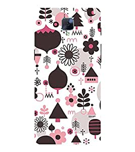 Multi Colour Flower Pattern 3D Hard Polycarbonate Designer Back Case Cover for OnePlus 3 :: OnePlus Three