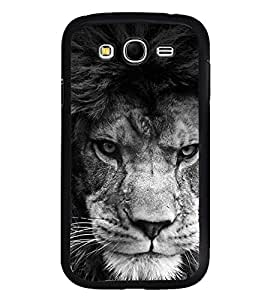 Fuson Premium 2D Back Case Cover Roaring Lion With Multi Background Degined For Samsung Galaxy Grand Neo Plus::Samsung Galaxy Grand Neo Plus i9060i