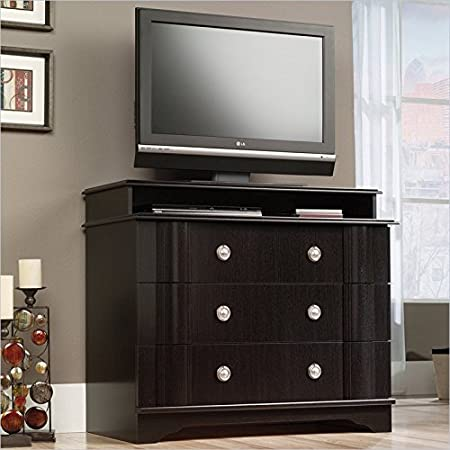 Sauder Embassy Point Highboy TV Stand in Wind Oak