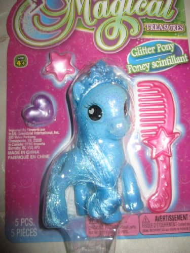 -Magical Treasures Glitter Pony 5pcs. - 1