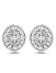 BridalMe 6.24CTW White Cubic Zirconia .925 Sterling Silver Earrings