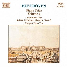 Beethoven: Archduke Trio / Kakadu Variations / Allegretto, Woo 39