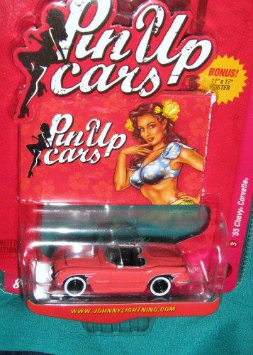 Johnny Lightning Pin Up Cars '55 Chevy Corvette - 1