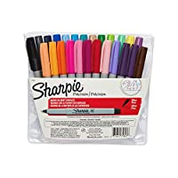 Sharpie Permanent Markers, Ultra Fine Point, Assorted Colors, 24-Count