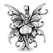 Bubble Rider Fairy Sterling Silver Pendant by Amy Brown
