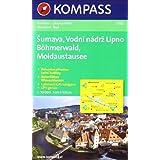 Böhmerwald, Moldaustausee / Šumava, Vodní nádrž Lipno 1 : 50 000