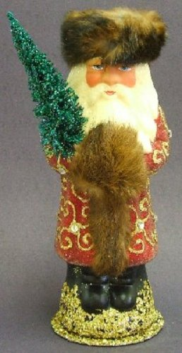 Ino Schaller German Paper Mache Red Russian Santa