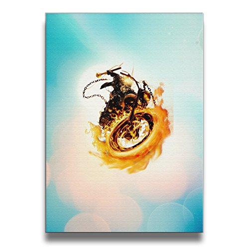 [Bekey Ghost Rider Logo Canvas Prints Artwork For Home Office Decorations Wall Decor For Living] (Dr Strange Modern Costume)