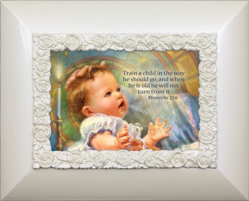 Cottage Garden Blessed Baby Glossy Ivory Photo Album