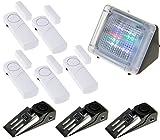 Adapter-Universe® 5x Fensteralarm 3x Türstopper LED TV Simulator Set Alarm