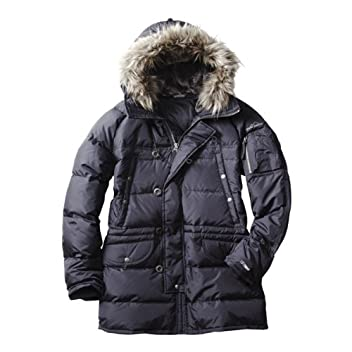 Heavy Zone Military Down Parka 680413: Black