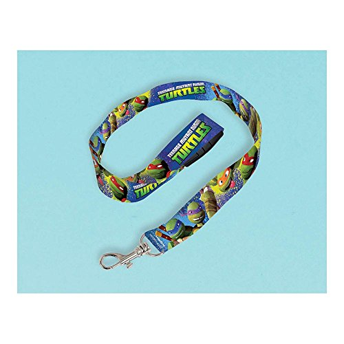 "Amscan Awesome TMNT Lanyard Birthday Party Favor, 18-1/2 x-3/4"", Multi"