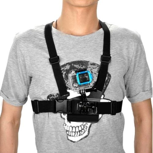 Bluefinger Chest Body Strap For Gopro Hero 3/2/1 With 3-Way Adjustment Base