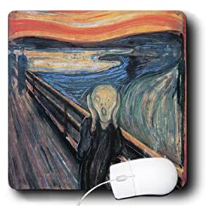 BLN Assorted Works Of Fine Art Collection - The Scream by Edvard Munch - MousePad (mp_130172_1)