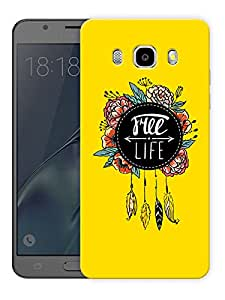 "Free Life Dream Catcher Printed Designer Mobile Back Cover For ""Samsung Galaxy J5 2016 Edition"" (3D, Matte, Premium Quality Snap On Case)"