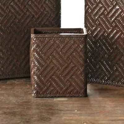 Lamont Home Apollo Rectangular Wastebasket, Chocolate front-976734