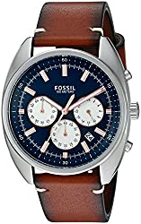 Fossil Drifter Chronograph Blue Dial Mens Watch - CH3045