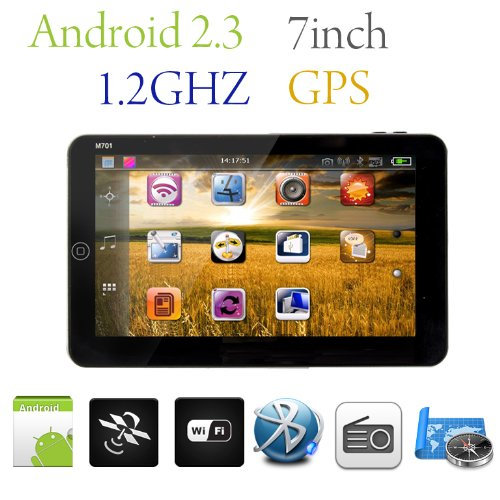 7 inch touchscreen google android 2 3 os tablet gps for Eyepower tattoo kit