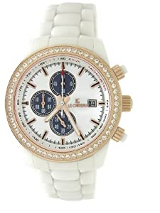 Le Chateau Men's 5822M_WHT Bello Collection All Ceramic with Sapphire Crystal and C-Z Watch