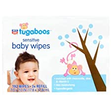 Rite Aid Tugaboos Baby Wipes, Sensitive, 192 Ct.