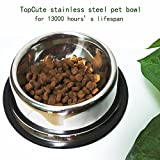 Whippy-No-Tip-No-Slip-Stainless-Steel-Bowl-For-SamllMediumLarge-Pets-set-of-2