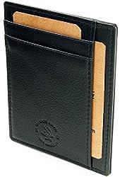 Hammer Anvil RFID Blocking Genuine Leather Front Pocket Wallet Card Case