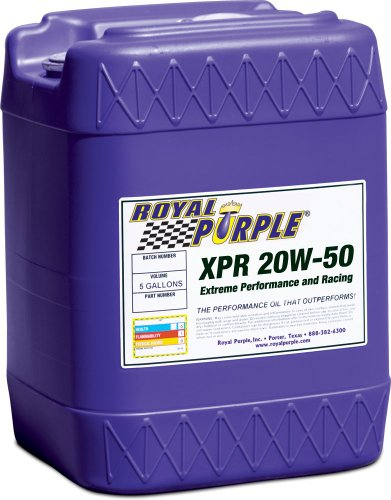 Compare great royal purple 05051 xpr 20w 50 ultra light for Racing motor oil comparison