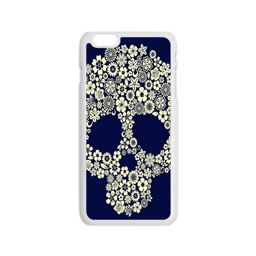 Sugar skull per custodia del giorno dei morti in gomma rigida Cover per iPhone 6