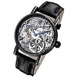 Rougois Tattoo Black Mechanical Skeleton Watch RS10003