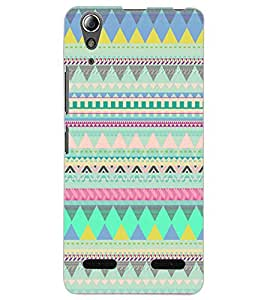 ColourCraft Tribal Pattern Design Back Case Cover for LENOVO A6000