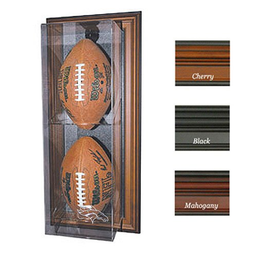 "Denver Broncos Nfl ""Case-Up"" Football Display Case (Vertical) (Mahogany)"