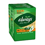 Image of Always Ultra Thin Overnight With Wings 56 Count