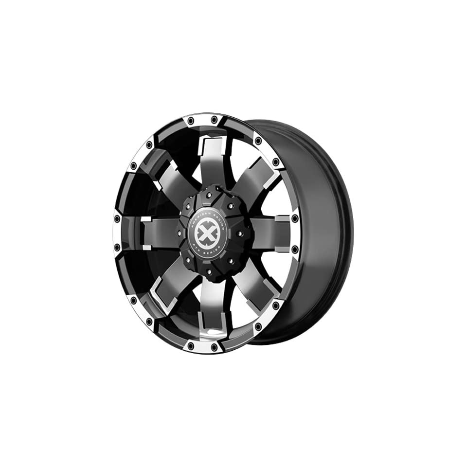 American Racing ATX AX191 18 Black Wheel / Rim 5x4.5 & 5x5 with a 20mm Offset and a 72.6 Hub Bore. Partnumber AX19189054720