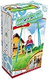 Altalena Dondolo per bambini Swing Baby Seat 128x110x110 cm struttura metallo e sedile in plastica antirovesciamento
