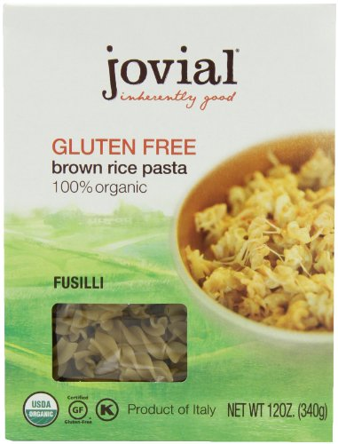 Jovial Organic Brown Rice Fusilli, 12-Ounce Packages (Pack of 6) (Rice Pasta Organic compare prices)