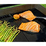 Ouddy Best BBQ Grill Mat, 100% Non-stick and Reusable, Set of 2, Best in BBQ Accessories